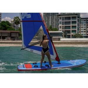 Starboard SUP Windsurfing Touring 12'6 Inflatable Deluxe SC (2021) action